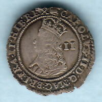 Great Britain.  Charles 11 (1660-62) Hammered Twopence.  MM-Crown.. gVF