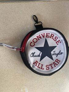 Converse All Star Small Round Zip Up Clip On Bag (Reduced)