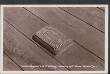Hampshire Postcard - Tablet Onboard HMS Victory, Spot Where Nelson Fell  RS6562