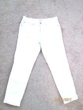 Womens Ann Taylor LOFT White Boyfriend Jeans 0