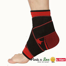 Adjustable Ankle Brace Support Compression Sports Stabilizer Elastic Foot Wrap