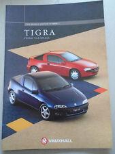 Vauxhall Tigra range brochure 1995 Ed 2