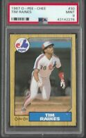 1987 O-Pee-Chee Tim Raines Montreal Expos #30 PSA 9 MINT