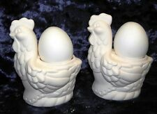 Ceramic Ready to Paint Bisque Chook and Egg Salt and Pepper Shackers