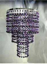 3-Tiered Purple Acrylic Gemstone Faceted CHANDELIER w/Light Kit -  SALE!!