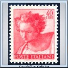 1961 Italia Repubblica Michelangiolesca L. 40 n. 906 **