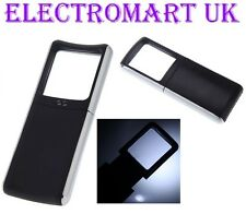 LED LIGHT UP HAND HELD MAGNIFIER MAGNIFYING GLASS INCLUDING BATTERIES