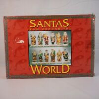 Vintage Santa's From Around The World, 12 Statues, Ceramic