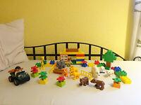 LEGO Duplo Spielset Tierpark Zoo Auto Eisbär Giraffe Löwe Elefant Figuren Mauer