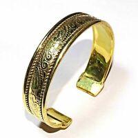 925 Solid Brass Handmade Girl,s Women,s Antique Bangle Cuff Bracelet Jewelry