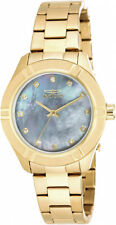 Invicta Women's Pro Diver Quartz White Dial Stainless Steel Gold Watch 18324