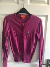 *GENUINE* VIVIENNE WESTWOOD PINK COTTON CARDIGAN ORB SIZE SMALL LONG SLEEVE