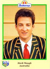 BUTTERCUP 1995 MARK WAUGH CARD Portrait AUSTRALIA ACB Australian Cricket Board
