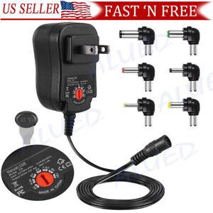 12W Universal Adjustable AC/DC Power Adapter 6V 9V 12V Power Supply Plug Charger