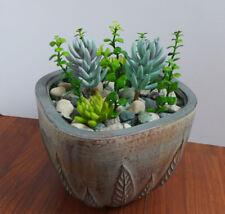 Artificial Grasses With Succulents (Set of 11 Mini Plants)