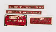 BUDDY-L CONCRETE MIXER DECAL SET