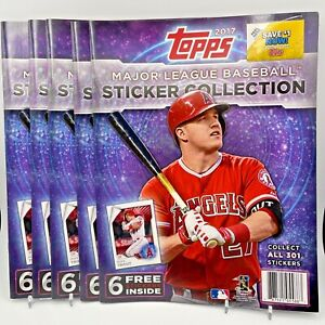 2017 Topps MLB Sticker Collection Book (Lot of 5)
