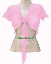 Belly Dance Tie Top Flair Wrap Choli Gypsy Haut Orientale Danse Blouse Ruffle