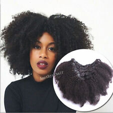Afro Kinky Curly Mongolian Clip In Human Hair Extensions 8A Clip In Hair Bundles