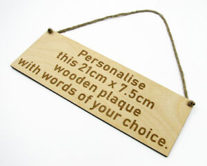 Personalised Shabby Wooden Sign Custom Bespoke Made Hanging Wall Plaque 21x7