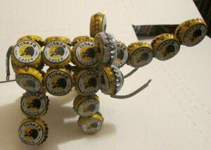 Recycled Handmade Art Elephant Figure Folk art ALL TUSKER LAGER Beer Bottle Caps