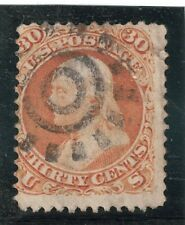 USA Stamps - 1861-62 - Franklin, orange, 30c - Scott #71