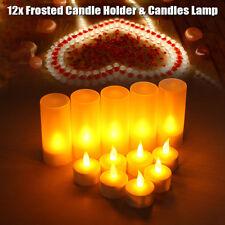 12X LED Flameless Rechargeable Tea Light Tealight Candle Wedding Desk Decoration