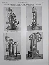 Sheet Metal Working Tools Made In France: 1908 Engineering Magazine Print