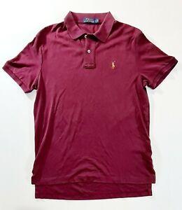 RAPLH LAUREN POLO Mens Maroon Polo Shirt Size Medium