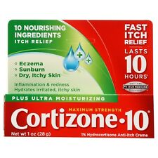 New Cortizone 10 Plus Ultra Moisturizing 1% Hydrocortisone Anti-Itch Crème 1 OZ.