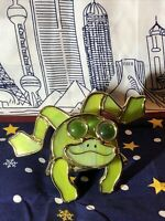 Stain Glass Frog Candle Holder