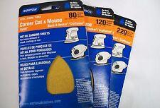 Norton Corner Cat & Mouse Multi-Tool Detail Sanding Sheet Assortment, 15 Sheets