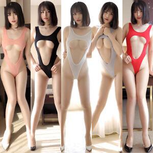 Sexy Women's Lingerie Chest Hollow Out Jumpsuits Underwear Nightwear Swimwear