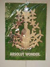 Absolut Vodka wonder snowflake hanging ornament, factory sealed