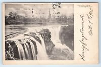Vintage Postcard Passaic Falls Greetings From Paterson NJ New Jersey 1905