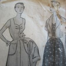 Complete Vintage 1950s Sewing Pattern Simplicity 3224 Ladies Dress size '14'
