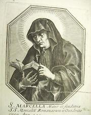 Sainte Marcelle de Rome Michiel VAN LOCHOM XVIIe à la Duchesse d'Aiguillon 1639