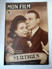 """Mon Film n°94 du 2/06/1948 """"Vertiges"""" avec R. Rouleau et M. Francey"""