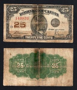 Canada / Dominion of Canada - 25 cents 1923  MB/F  A-07