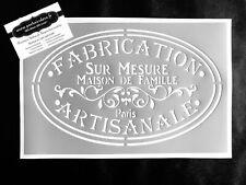 Pochoir Adhésif Réutilisable 30 x 20 cm Affiche Artisanale Vintage / Made in FR