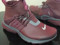 WOMENS NIKE AIR PRESTO MID UTILITY RUNNING ZIP UP TRAINERS BOOTS SIZE 5.5