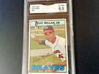 1967 TOPPS FELIX MILLAN ATLANTA BRAVES CARD #89 - GRADED (6.5) EXCELLENT-NEAR MT