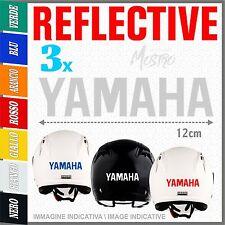 3x YAMAHA white ADESIVI helmet PEGATINA moto STICKERS AUTOCOLLANT AUFKLEBER Tmax
