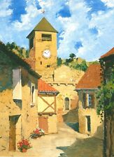 ACEO PRINT OF oil PAINTING RYTA LANDSCAPE REALISM CLOCK IMPRESSIONISM FLOWERS