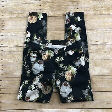 7 For All Mankind Womens Size 25 Nighttime Floral Skinny Jeans