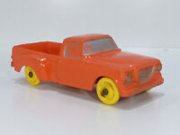 Tomte Laerdal Studebaker Champ Pickup Rot 15cm ca.1/24 Gummi Auto Vinyl Toy Car