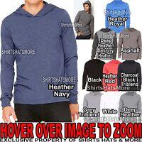 Canvas MENS Long Sleeve Hooded T-Shirt Hoodie XS, S, M, L, XL, 2XL NEW!