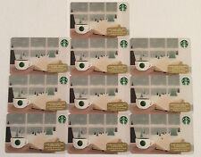 "Starbucks 2015 ""AM Coffee With Book "" Christmas Card LOT OF 10 CARDS"