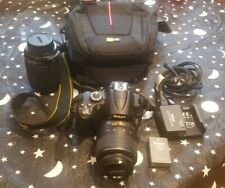 Nikon D D5000 12.3MP Digital SLR Camera - Black w/ VR AF-S DX 18-55mm and 55-200