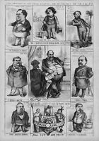 TAMMANY RING BOSS TWEED UNITED STATES PRESIDENT AND CABINET CONNOLLY SWEENY